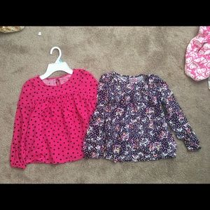 Other - NWOT Girls Set of 2 Size Small (6/6x) blouses!